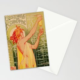 Classic French art nouveau Absinthe Robette Stationery Cards