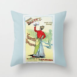 Female singer Eugenie Buffet Throw Pillow