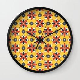Island Breeze Tropical Floral Seamless Pattern Wall Clock