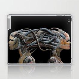 Brain connected cyborgs. External view Laptop & iPad Skin