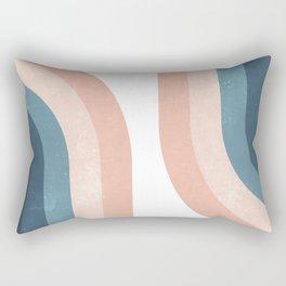 70s Rainbow Rectangular Pillow