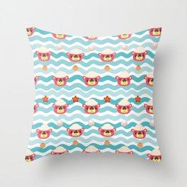 ac cute scallop lover pascal Throw Pillow