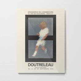 Pierre Doutreleau. Exhibition poster for Orangerie du Luxembourg in Paris, 1978. Metal Print