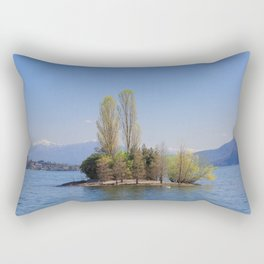 Romantic Island of Love on Lake Maggiore in Italy Rectangular Pillow