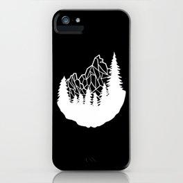 Mountain Geometry iPhone Case