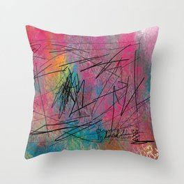 Facing Randomness. Throw Pillow