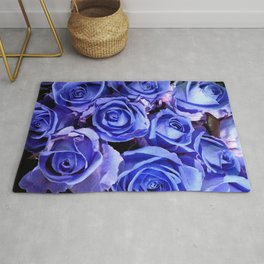 Blue Roses for You Rug