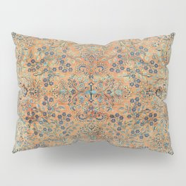 Kashan Floral Persian Carpet Print Pillow Sham