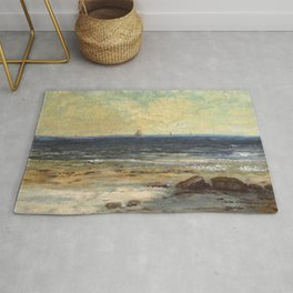 "Gustave Courbet ""Seaside, Palavas (Bords de la Mer, Palavas)"" Rug"