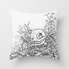 Dead Garden Throw Pillow