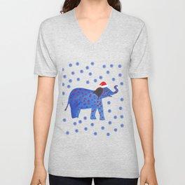 Holidays Elephant Unisex V-Neck
