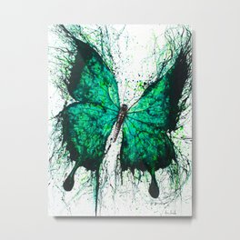 Night Garden Butterfly Metal Print