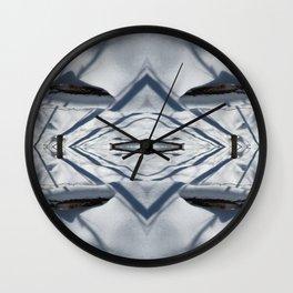 Snow Lines Wall Clock