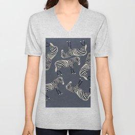 Zebra Pattern DF Unisex V-Neck