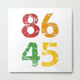 8645 (colorful) Anti Trump Metal Print