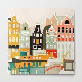 Amsterdam travel city shapes abstract Metal Print