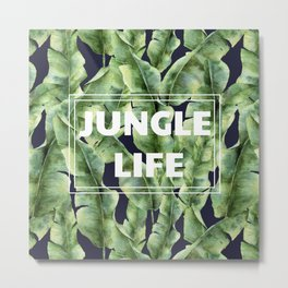 JUNGLE LIFE-banana leaves Metal Print