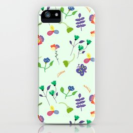 Spring Floral Pattern iPhone Case