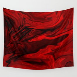 Blood Red Marble Wall Tapestry
