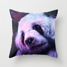Sleepy Galaxy Giant Panda Throw Pillow
