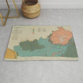 Vintage Geological Map of Kentucky (1920) Rug