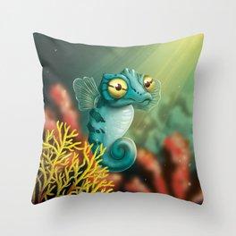 Cute Seahorse Throw Pillow