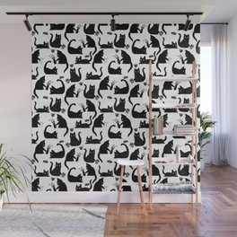 Bad Cats Knocking Stuff Over Wall Mural