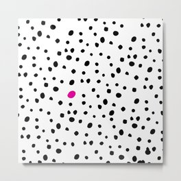 Stand out from the crowd - Dalmatian print Metal Print