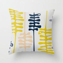 Abstract jungle - grey Throw Pillow