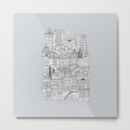 San Francisco in Grey Metal Print