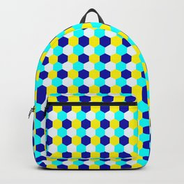 Vibriant Hexagon Pattern Backpack