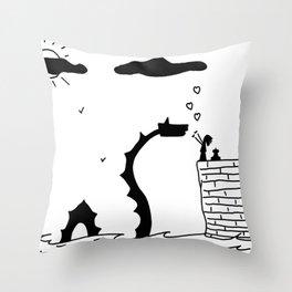 Little Sea Monster Throw Pillow