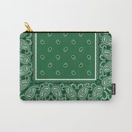 Classic Green Bandana Carry-All Pouch