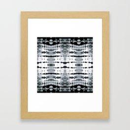 BW Satin Shibori Framed Art Print