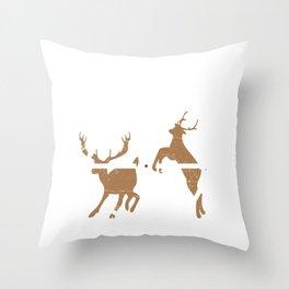 Deer Hunting Humor Animal Shooter Gun Lover Sniper Throw Pillow