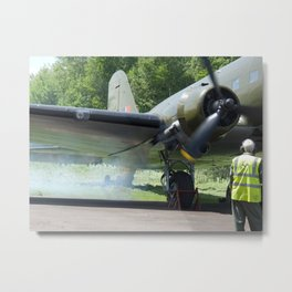 Douglas DC-3 engine start Metal Print