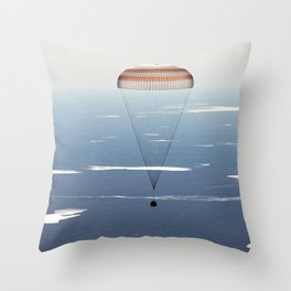 The Soyuz MS-02 spacecraft is seen as it lands with Expedition 50 near the town of Zhezkazgan Kazakhstan April 10 2017 Throw Pillow