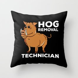 Boar Hunt T-Shirt I forest hunter gift Throw Pillow