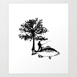 Fisherman Gifts For Dad Boyfriend Men Fishing Kunstdrucke