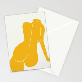 Nude in yellow Stationery Cards