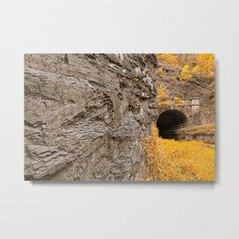 Paw Paw Tunnel - Golden Age Nostalgia Metal Print