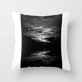 Sundown At Lake Heve 8 bw Throw Pillow