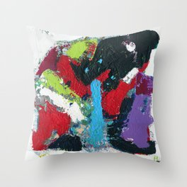 Tic Modern Painting Throw Pillow
