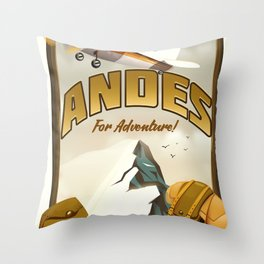 "Andes ""For Adventure!"", Throw Pillow"