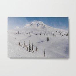 Snowy Mount Hood Metal Print