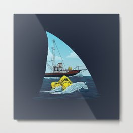 Jaws: The Orca Metal Print