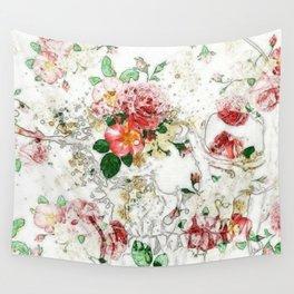 Morbid Flower Print Wall Tapestry