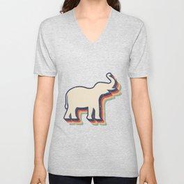 Retro Elephant Elephant Lover Gift Unisex V-Neck