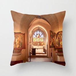 Diem Monasterium interiorem Throw Pillow