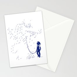 Connect the points... in the wrong order ! Stationery Cards